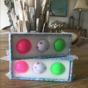 6 Lily Pulitzer golf balls